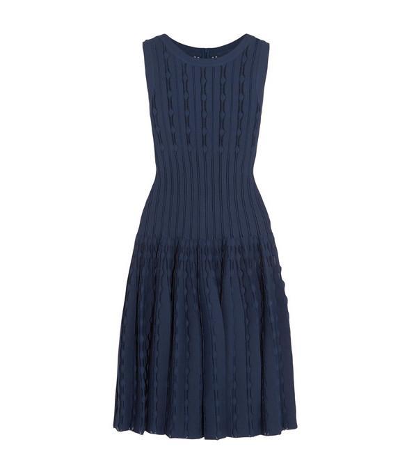 Alaïa Laser-cut Knitted Dress