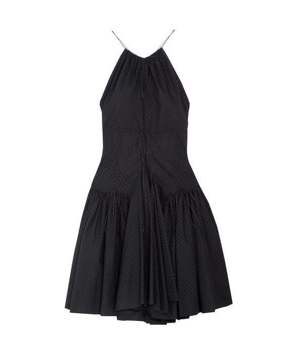 Alaïa Perforated Cotton Mini Dress