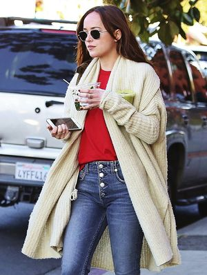 Dakota Johnson Is Endorsing the #1 Shoe Trend of 2017