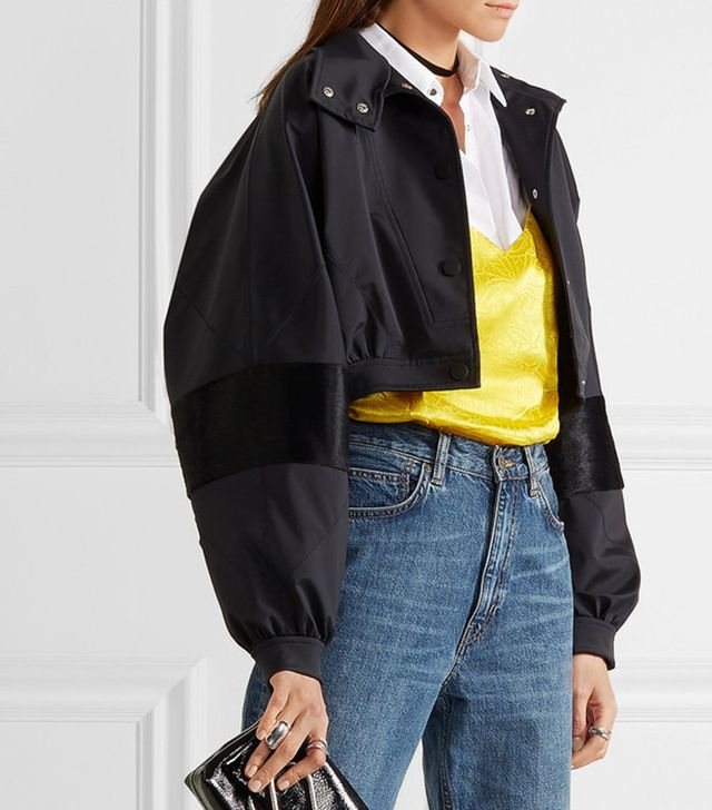 Topshop Unique Cropped Shell Jacket
