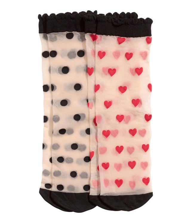H&M 2-Pack Sheer Socks