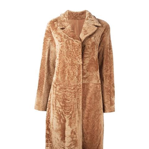 Fur Button Coat