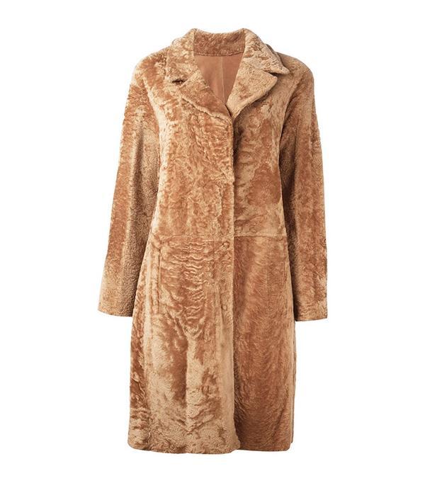 Drome Fur Button Coat