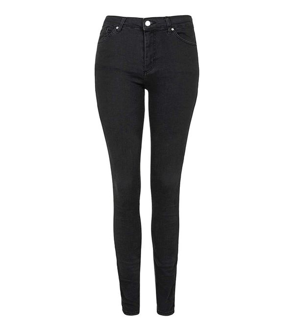 Topshop Moto Washed Black Leigh Jeans