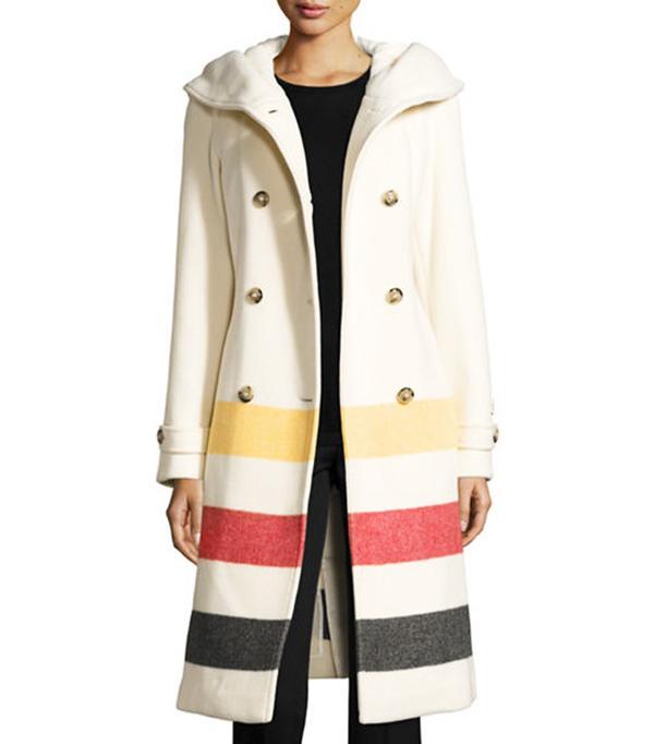 Woolrich Monica Hooded Belted Wool-Blend Coat