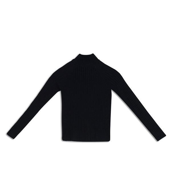 Who What Wear Slim Rib Mock Neck Sweater