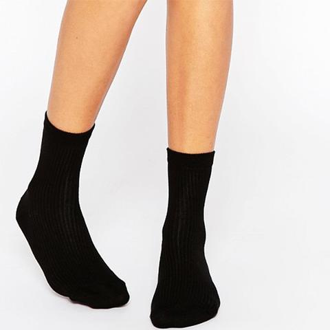Plain Rib Ankle Socks