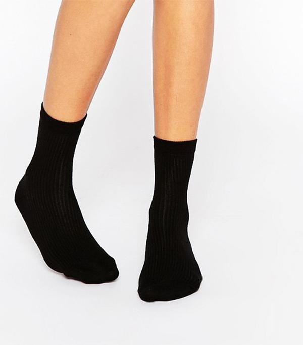 ASOS Plain Rib Ankle Socks