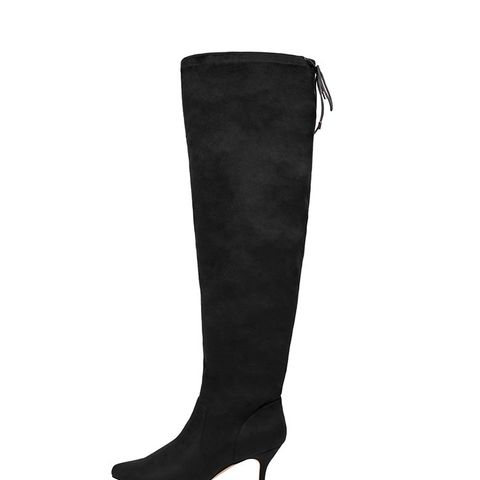 Over-the-Knee Faux-Suede Boots