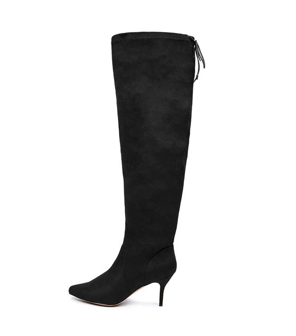 Eloquii Over-the-Knee Faux-Suede Boots