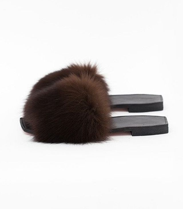 Parme Marin Furry Baby Slippers