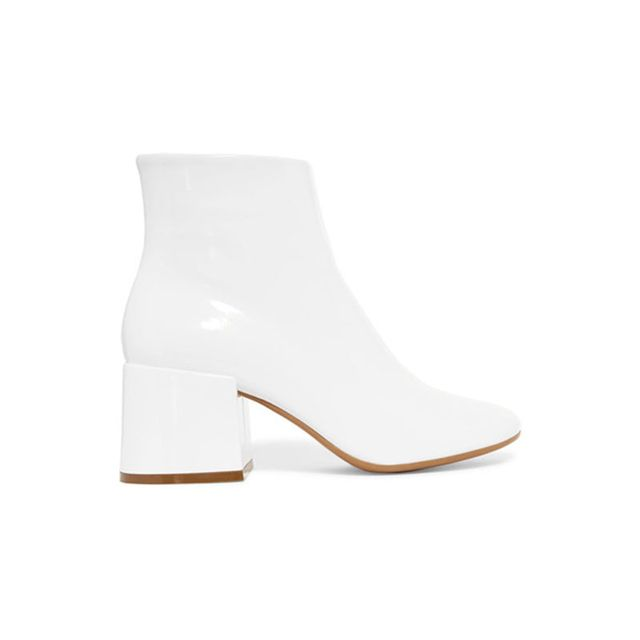 MM6 Maison Margela Patent Leather Boots