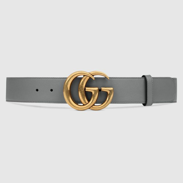 Gucci Leather Belt With Double G