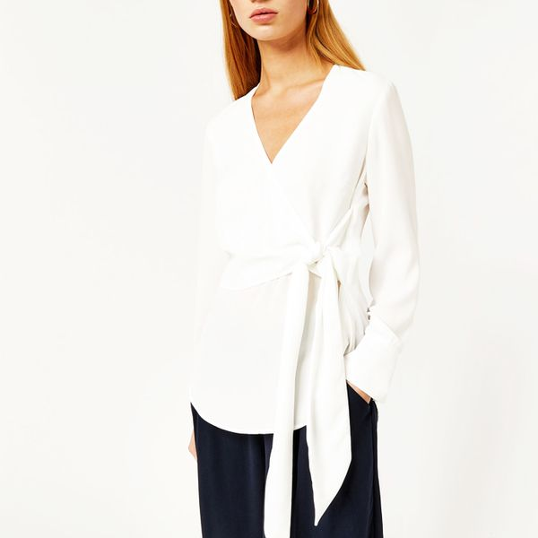 Best Workwear Buys: Warehouse Wrap Front Tie Top
