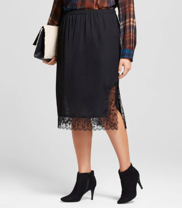 Who What Wear Lace Skip Skirt