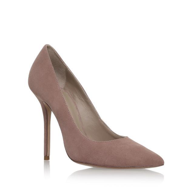 Kurt Geiger Elle Taupe High Heel Court Shoes
