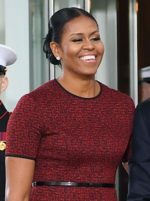 Michelle Obama Wore a Beautiful Belted Dress for Inauguration Day