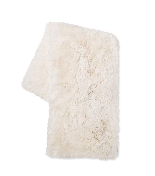 Target Cream Long Faux Fur Throw