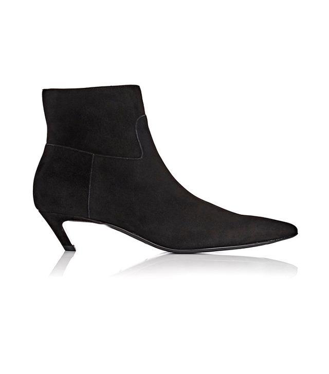 """Balenciaga """"Broken"""" Heel Suede Ankle Boots"""