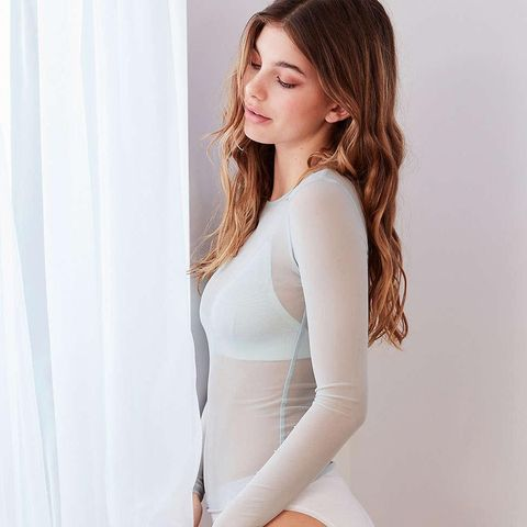 Out From Under Mesh Long Sleeve Top