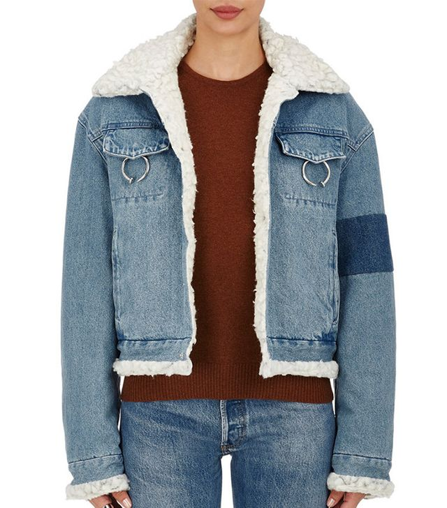 Ambush Faux-Shearling–Lined Denim Jacket