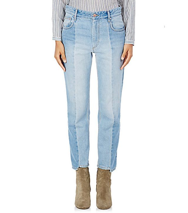 Étoile Isabel Marant Clancy Notched Crop Jeans