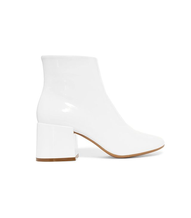 MM6 Maison Margiela Patent-Leather Ankle Boots