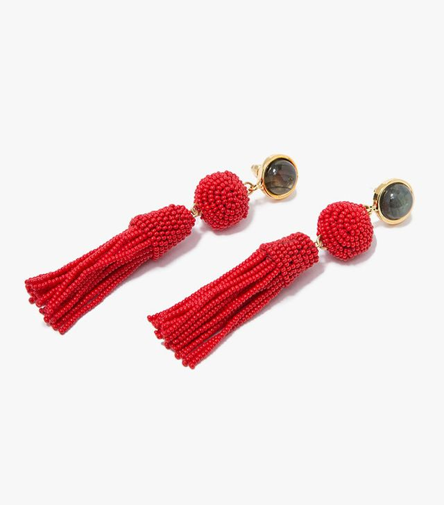 Lizzie Fortunato Havana Earrings in Red