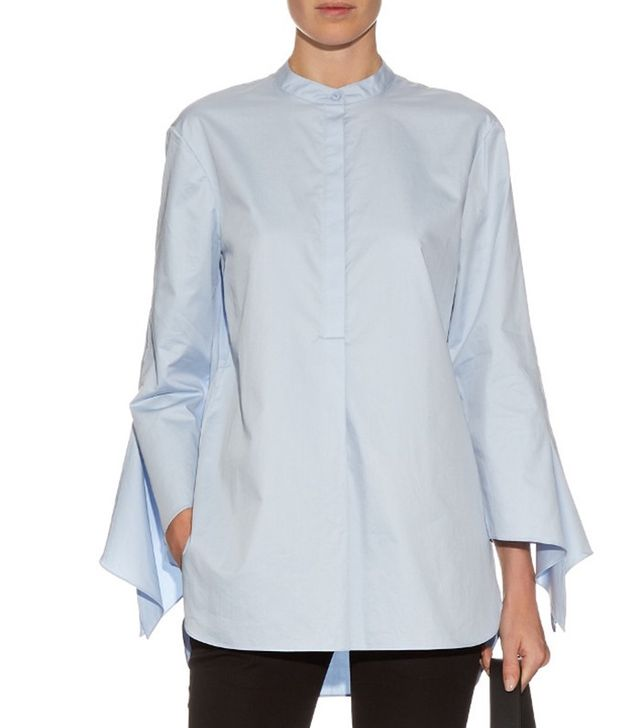 Tibi Long-sleeved cotton shirt