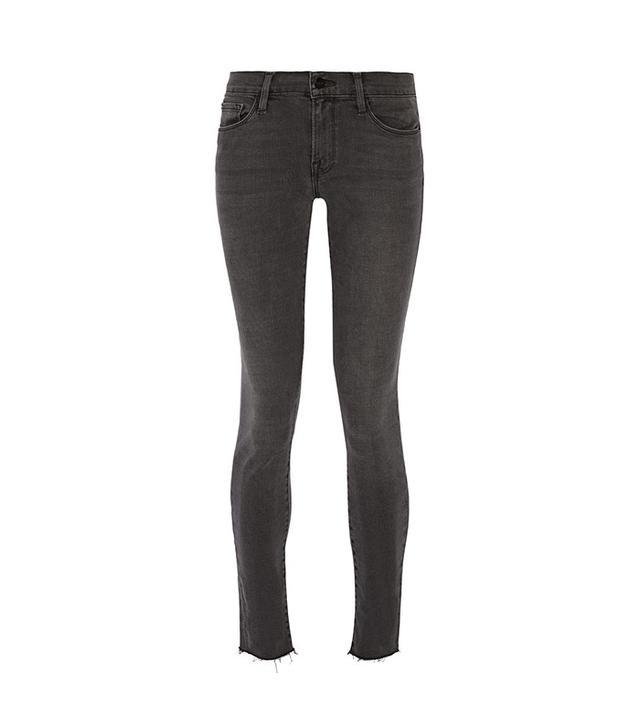 Frame Le Skinny de Jeanne Frayed Mid-Rise Jeans