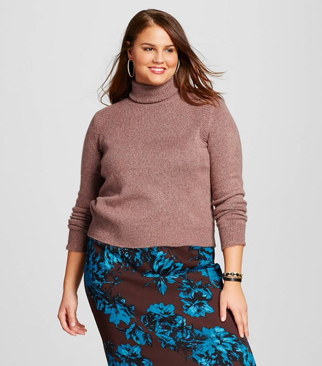 Who What Wear Women's Plus-Size Cozy Turtleneck Sweater