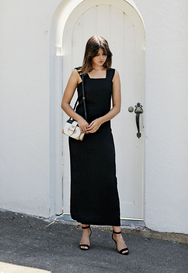 Recreate the look with Dion Lee Column Dress ($650), Tony Bianco Kira Heels ($170). A dinner date is the perfect excuse to whip out that little black dress. The one you always feel...