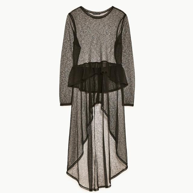Best over 40 fashion bloggers: Zara Long Sheer T-Shirt