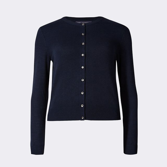 Best over 40 fashion bloggers: Marks & Spencer Button Through Cardigan