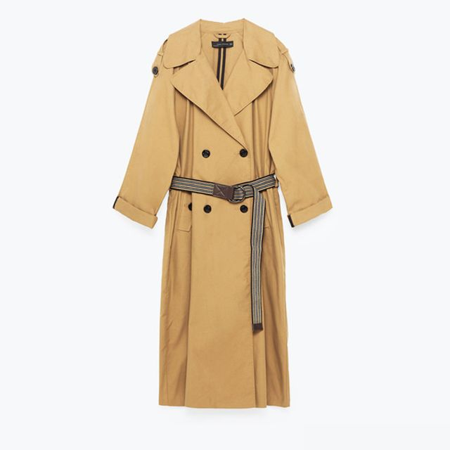 Best over 40 fashion bloggers: Zara Studio Trench Coat with Contrasting Belt