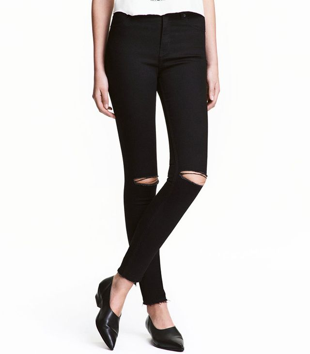 H&M Skinny High Ripped Jeans