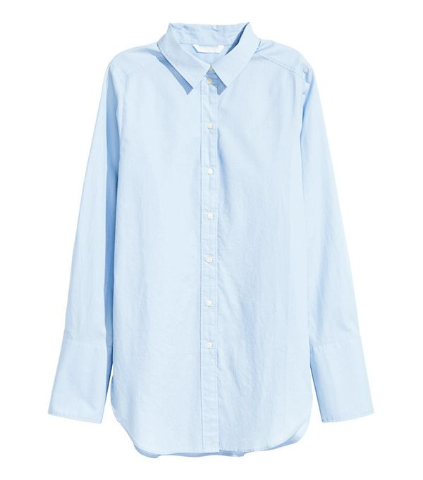 H&M Wide-Cute Cotton Shirt