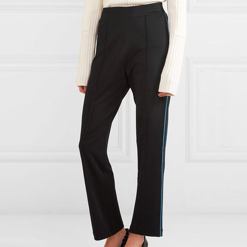 Rogers Metallic-Trimmed Stretch-Jersey Track Pants