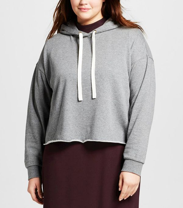 Who What Wear Women's Plus Size Deconstructed Hoodie