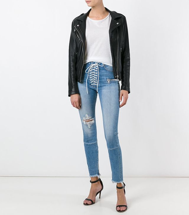 Unravel Project Lace-Up Jeans