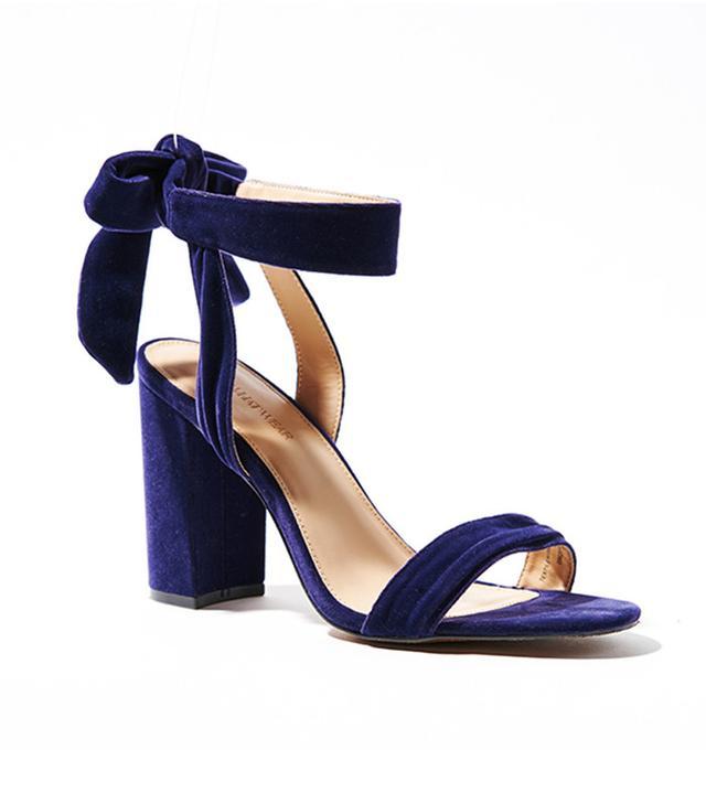 Who What Wear Michaela Velvet Ankle Tie Bock Heels