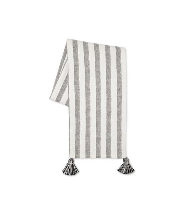 Target Black/White Tassel Throw Blanket
