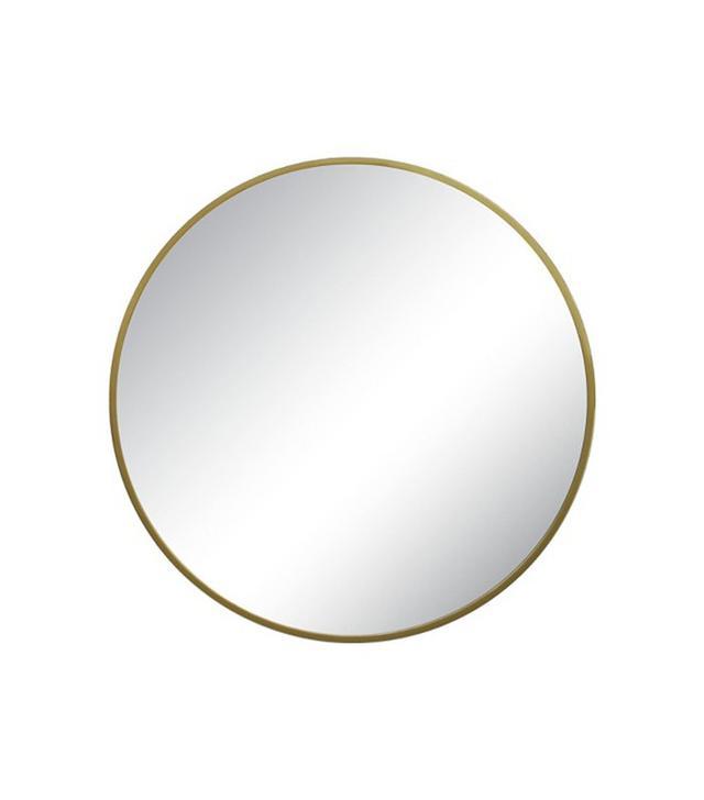 Target Round Mirror Brass