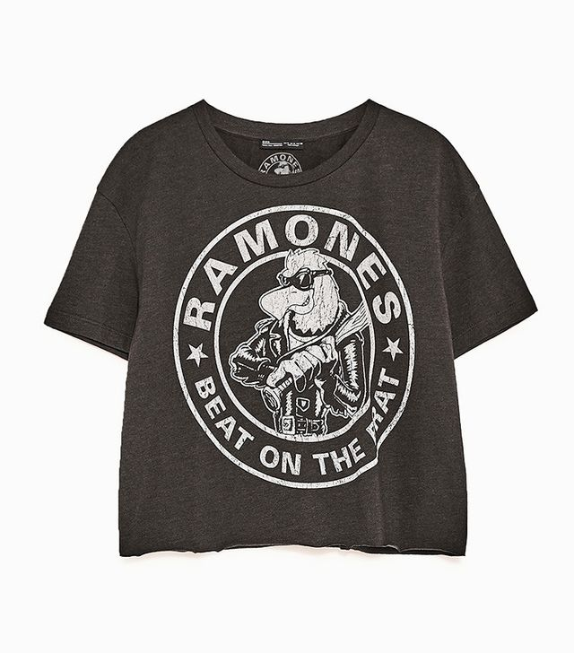 Zara Cropped Ramones T-Shirt