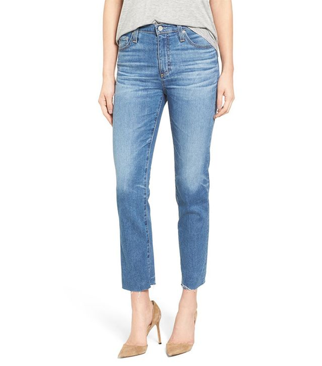 AG The Isabelle Crop Straight Leg Jeans