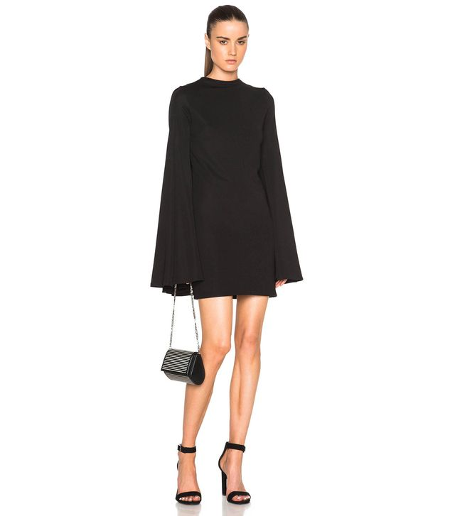 Brandon Maxwell Pleat Back Mini Dress