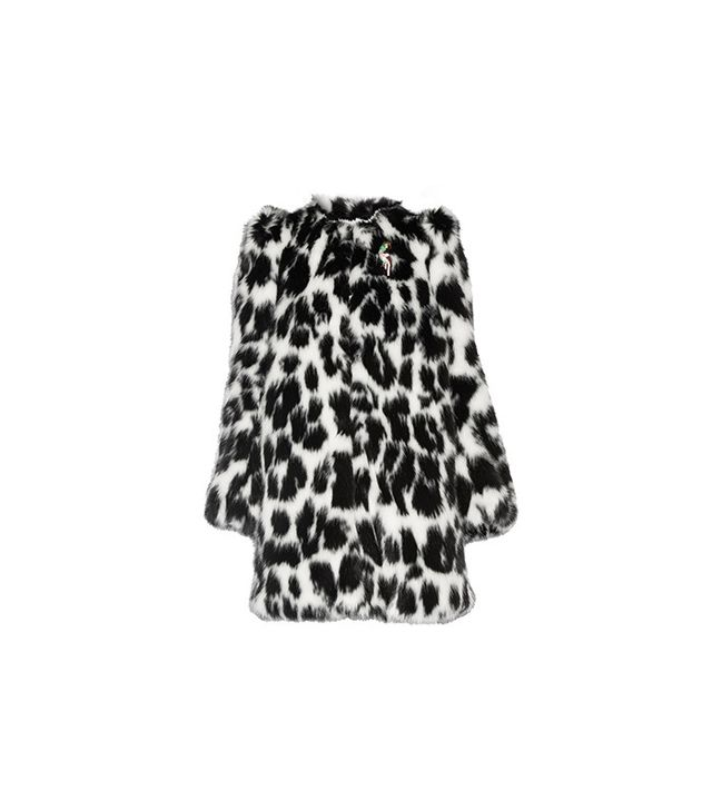 Marc Jacobs Embellished Leopard-Print Faux Fur Coat