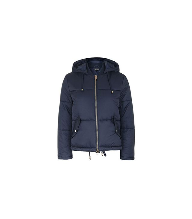 Topshop Petite Hooded Puffer Jacket