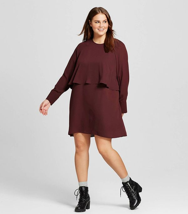 Who What Wear for Target Plus Size Layered Raglan Dress