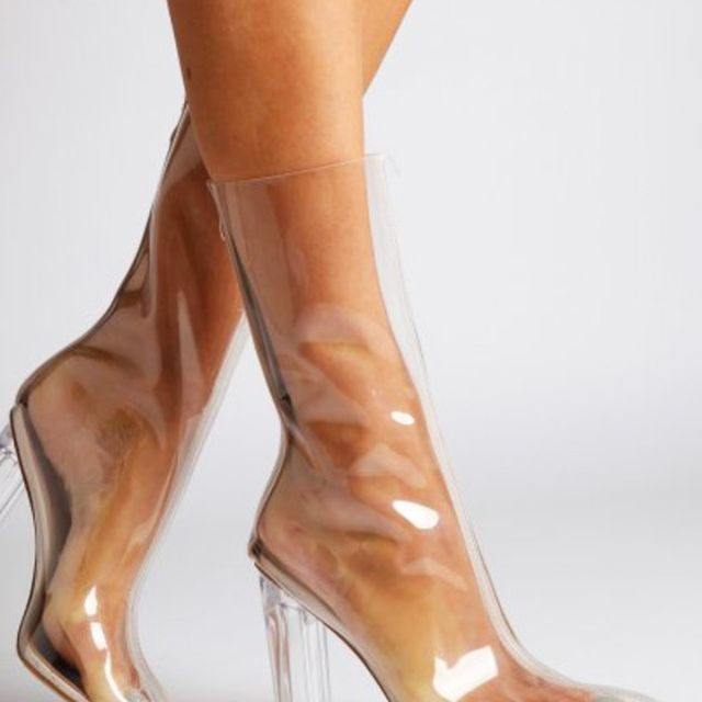 Best Manchester fashion labels: Ego Tasha Perspex Clear Ankle Boot